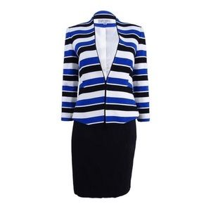 Tahari ASL Striped Suit Set Size 12